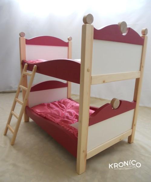 Двухъярусная кроватка для кукол своими руками из дерева 85
